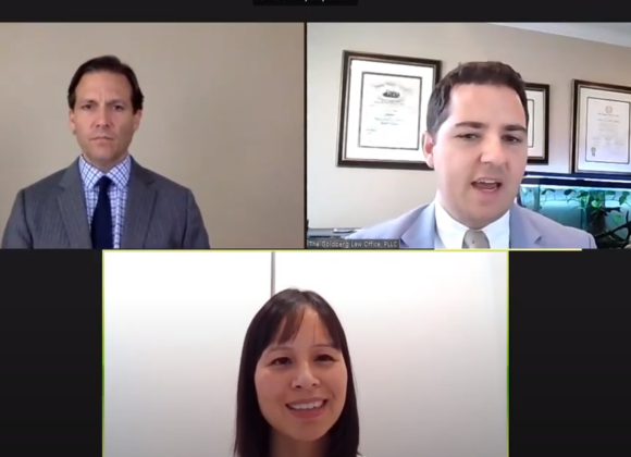 Lawyers in a Zoom Meeting