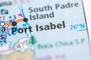 Map of Port Isabel, TX